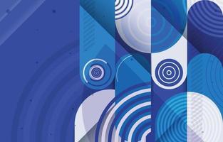 conceito de composição de formas arredondadas coloridas vetor