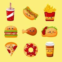 logotipo de fast food vetor