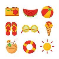 ícone de verão alegre vetor
