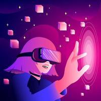 ilustração de realidade virtual vetor