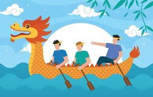 ilustração do festival do barco dragão vetor
