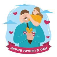 conceito de ilustração do dia dos pais feliz vetor