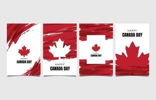 feliz dia canadense com cartão de efeito splash vetor