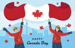 feliz dia do canadá ilustração vetor
