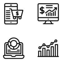 estatísticas online e comércio eletrônico vetor