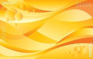 fundo abstrato onda amarela vetor