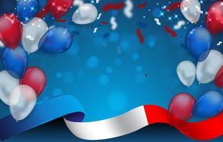 fundo do dia da bastilha com molduras da bandeira da França vetor