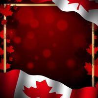 ilustração de fundo do dia do canadá vetor