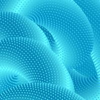 Fundo de formas criativas 3D azul brilhante moderno vetor