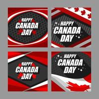 coleção de design de cartão feliz dia canadense vetor