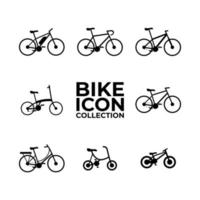 conjunto de coleta de ícones de bicicleta vetor