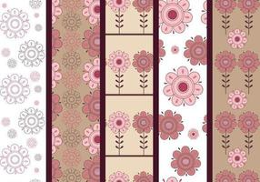 Padrões de ilustrador floral rosa e marrom vetor