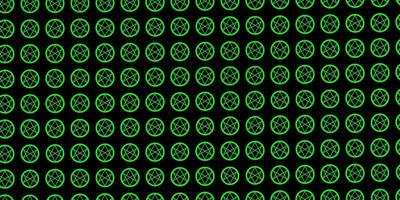 modelo de vetor verde escuro com sinais esotéricos.