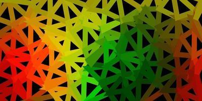 textura de triângulo abstrato de vetor verde e vermelho claro.