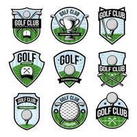 coleção de crachás do clube de golfe vetor