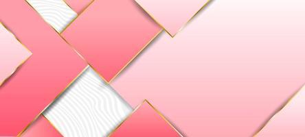 fundo geométrico luxuoso rosa vetor