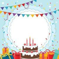 fundo de enfeite de aniversário vetor