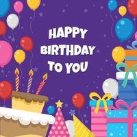 ilustração de feliz aniversário vetor