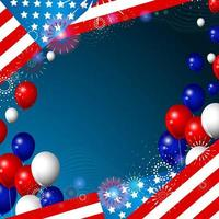 fundo da bandeira americana vetor