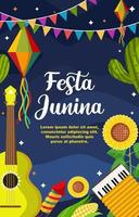 ilustração fofa festa junina vetor