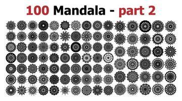 ornamento de mandala étnica. redondo padrão set.templates com brochura ornamentado do doodle mandalas.illustration linha arte tribal. vetor