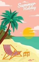 aproveite as férias de verão vetor