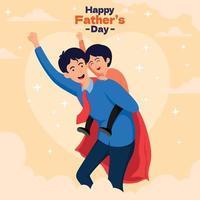feliz super dia dos pais ilustração vetor