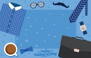 feliz dia dos pais fundo vetor