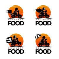 conjunto de logotipo de serviço de entrega rápida vetor