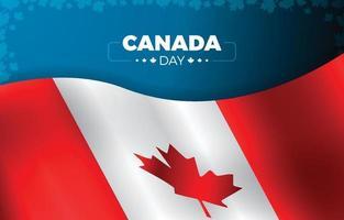 dia do Canadá com ilustração da borda da bandeira e da folha vetor