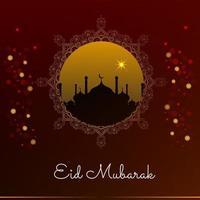 desenho de fundo abstrato eid mubarak islâmico vetor