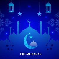 abstrato sagrado elegante fundo decorativo para eid mubarak vetor