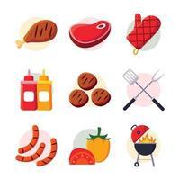 ícone de churrasco de piquenique vetor