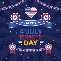 Ilustração do dia da independência de 4 de julho vetor