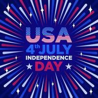 conceito de fogos de artifício do dia da independência vetor