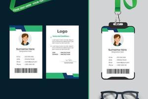 design de modelo de cartão de identificação simples com vetor