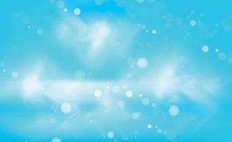 fundo desfocado azul abstrato com efeito bokeh vetor