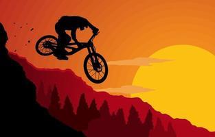 bicicleta para atividades ao ar livre vetor
