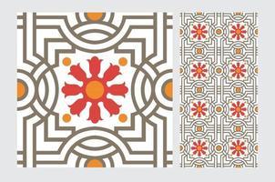 azulejos padrões portugueses design sem costura antigo em ilustração vetorial vetor