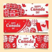 banner do dia canadense vetor