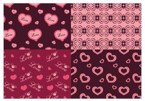 Padrões do Illustrator de Amor do Dia dos Namorados vetor