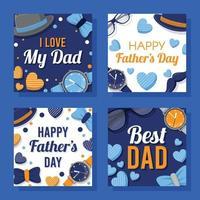 cartão do feliz dia dos pais vetor
