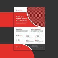 vermelho profissional e moderno design de modelo de folheto de folheto promocional vetor