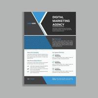 design de modelo de folheto de folheto promocional criativo exclusivo vetor