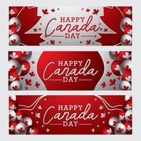 conceito de banner do dia canadense vetor