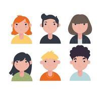 conjunto de ícones de personagem vetor