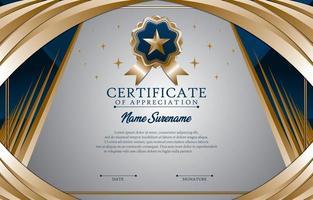 conceito de modelo de certificado de graduação vetor