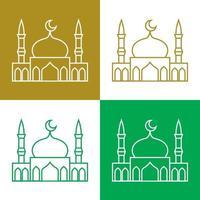 Conjunto de ícones de vetor simples mesquita