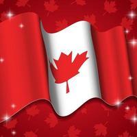 fundo ondulado da bandeira do Canadá vetor