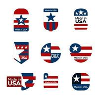 logotipo da made in USA vetor